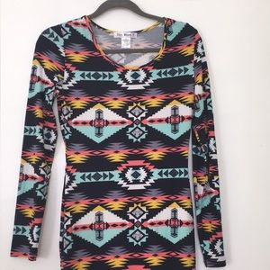 Say What? Aztec Print Midi Dress Sz M